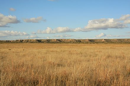 Southern plains of the Llano Estacado in the Texas Panhandle. Llano Estacado Caprock Escarpment south of Ralls TX 2009.jpg