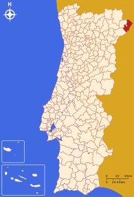 Location of Miranda do DouroMiranda de l Douro