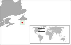 Saint-Pierre-et-Miquelon's 1st constituency - Image: Location Saint Pierre And Miquelon
