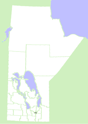 Location map Canada Manitoba