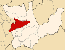 Location of Huamalíes in the Huánuco Region