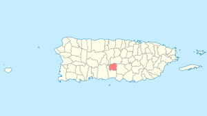 Location of Villalba in Puerto Rico