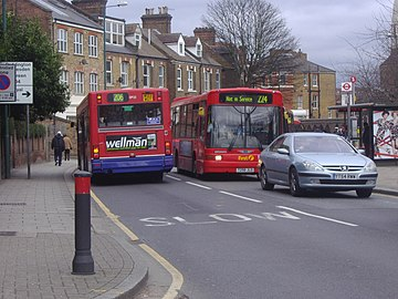 London Buses route 224 and 206 Acton Lane.jpg