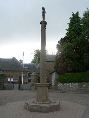 Longforgan - The mercat cross in the centre of the village