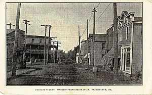 Fairchance, Pennsylvania - Looking west onto Church St. from Main St.