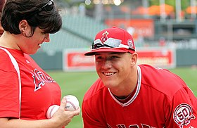 Los Angeles Angels center fielder Mike Trout (27) (5972457428).jpg