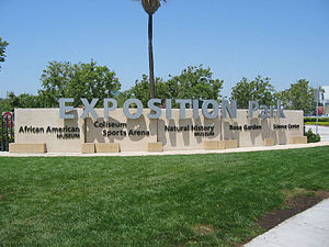 Exposition Park, Los Angeles - Exposition Park Entrance sign, (2007)
