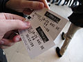 Louvre students free ticket, 2009.jpg