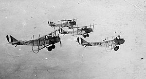 Dallas Love Field - Training flight of 4 Curtiss JN-4Ds from Love Field