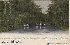 Laurel, Delaware - 1907 postcard showing Laurel in the Miami University Bowden Postcard Collection