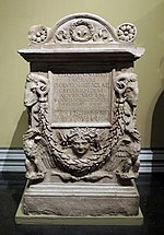 Lucius Valusius Heracles' tombstone (Lateran museum) replica in Pushkin museum 01 by shakko.jpg