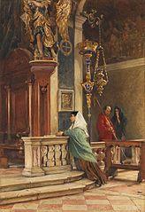 Prière dans une église vénitienne
