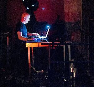 Lustmord - Lustmord playing at Norbergfestival, 2011.