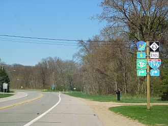 M-63 (Michigan highway) - M-63 at the junction with Blue Star Highway north of Hagar Shores