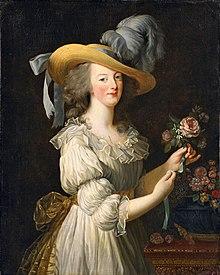 ガリア服を着たマリー・アントワネット(1783年、ヴィジェ=ルブラン画