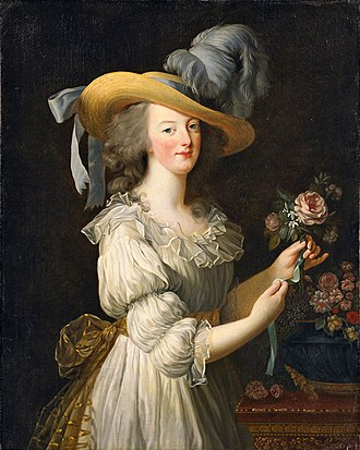 "1783 in art - Louise Élisabeth Vigée Le Brun,  Portrait of Marie Antoinette, the ""muslin"" portrait"
