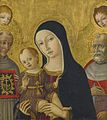 MATTEO DI GIOVANNI AND STUDIO THE MADONNA AND CHILD WITH SAINTS BERNARDINO OF SIENA AND JEROME.jpg