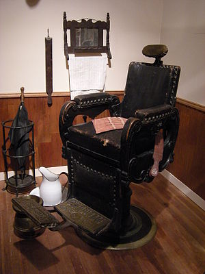 Recreation of J. N. Hooper's Barber Shop (Seat...