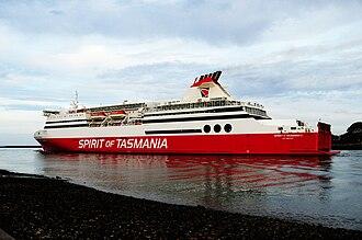 MS Spirit of Tasmania I - Image: MS Spirit of Tasmania I at Devonport, Tasmania