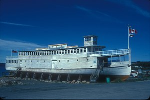 Atlin, British Columbia - M.V. Tarahne, a 1920s lake boat in Atlin