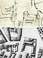 Maastricht, zuidoosthoek Vrijthof 1587-1748.jpg