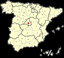 شهر مادرید بر نقشه اسپانیا
