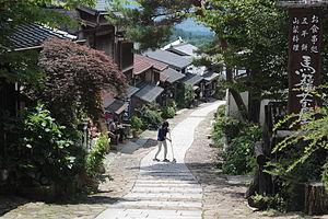 Magome-juku - Main street of Magome-juku in summer