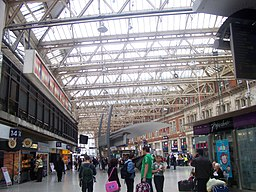 Main Concourse of London Waterloo station