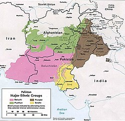 Pashtun-inhabited regions in green (1980)