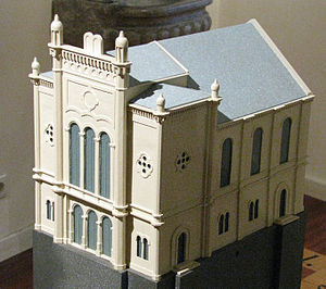 Zagreb Synagogue - Model of the Zagreb Synagogue on display at the Zagreb City Museum.