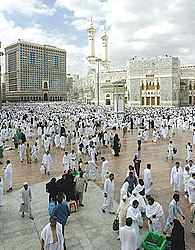 Die al-Harām-Moschee im Zentrum Mekkas