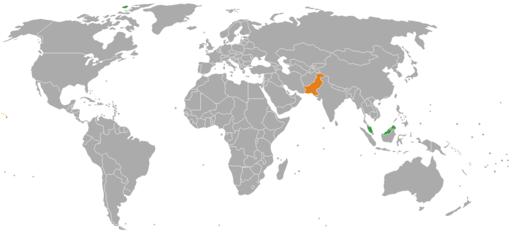 Malaysia Pakistan Locator