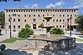 Mallorca Lluc monastery fountain entrance.jpg