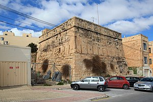 Redoubt - Vendôme Tower in Marsaxlokk. It is the only surviving tour-reduit in Malta.
