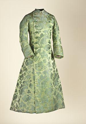 Banyan (clothing) - Fitted banyan, 1750–60.