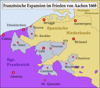 France gained territory through the Peace of Aachen
