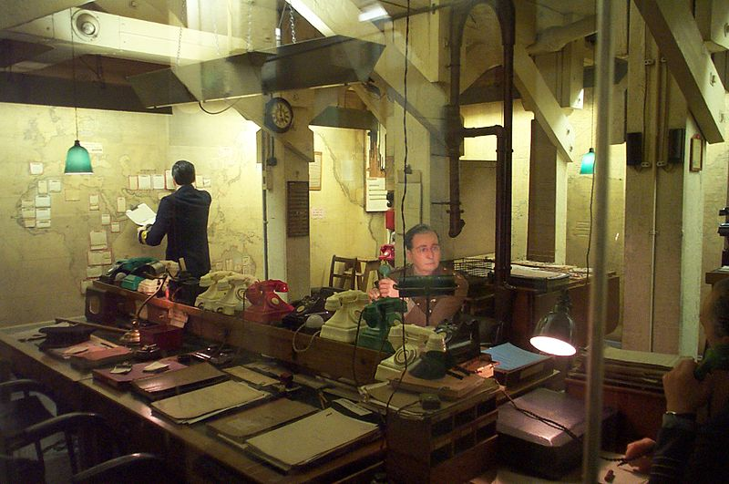 The Map Room in the Churchill Museum and Cabinet War Rooms