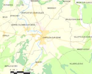 塞纳河畔沙蒂永市镇地图