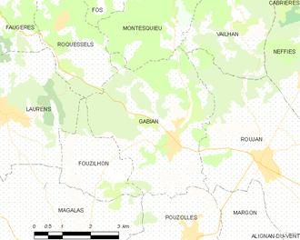Gabian - Map