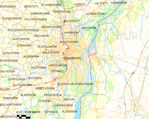 斯特拉斯堡市镇地图