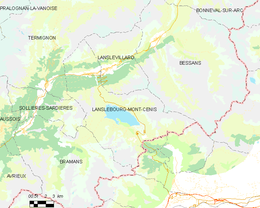 Lanslebourg-Mont-Cenis – Mappa