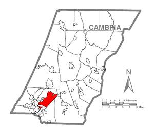 Conemaugh Township, Cambria County, Pennsylvania - Image: Map of Conemaugh Township, Cambria County, Pennsylvania Highlighted