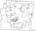 Map of Franklin County Ohio Highlighting Lockbourne Village.png