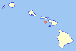 Map of Hawaii highlighting Lanai.svg