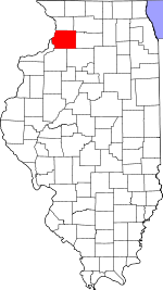 Map of Illinois highlighting Whiteside County.svg