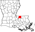 State map highlighting East Feliciana Parish