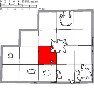 Lafayette Township, Medina County, Ohio - Image: Map of Medina County Ohio Highlighting Lafayette Township