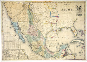 "Treaty of Guadalupe Hidalgo - ""Mapa de los Estados Unidos de Méjico by John Distrunell, the 1847 map used during the negotiations"