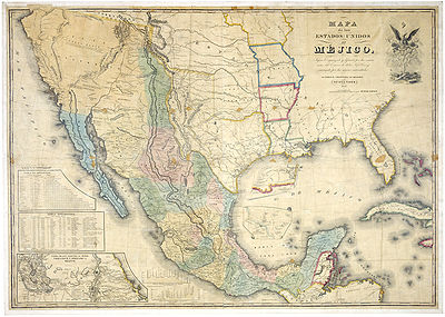 Mexican Map 1800