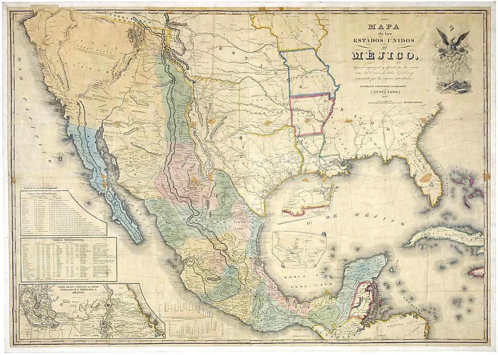Map of Mexico 1847